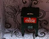 Coke Cold Box, Miniature, Tiny Cooler, No Working Parts