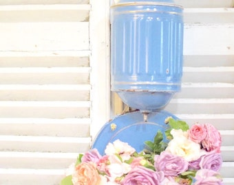 French Enamelware Lavabo Wall Sink (Water Reservoir and Basin)