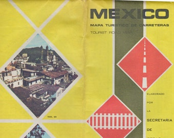 1973 Tourist Map of Mexico