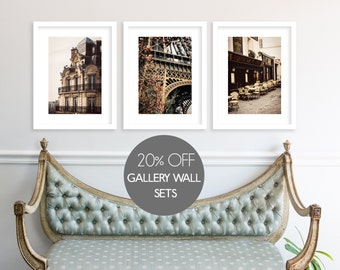 Gallery Wall Set, Paris Photography Collection, Paris Prints, Large Wall Art, Print Sale, Eiffel Tower, Travel Photography
