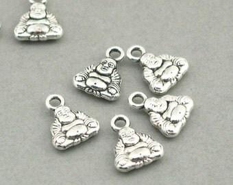 Buddha Small Charms Antique Silver 12pcs pendant beads 9X11mm CM1019S