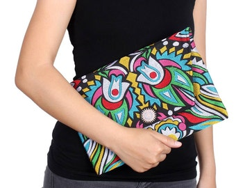Clutch With Embroidered Fabric Handmade Thailand (BG306DW-109C24)