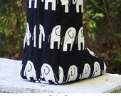 MADE TO ORDER Elephants Boot Bag Many Colors