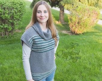 PDF Crochet PATTERN Avalon Shore Pullover Adult Sizes