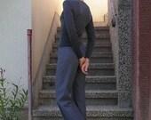 ON SALE: Vintage High Waist Blue-Grey Trousers size W28 / L34