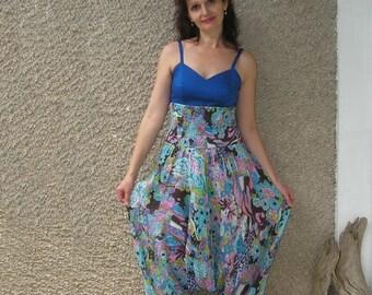 Vintage gauze HAREM pants or ROMPER, size S-M, on sale