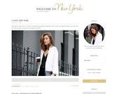 Wordpress Theme Responsive Blog Template Blog Design - Welcome to New York - Gold