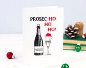 Christmas Card, Prosecco, Funny Christmas Card, Prosecco Card, Liquor Humor, Holiday Card, Prosecco Gift, Card Pack, Christmas, Wine, Card