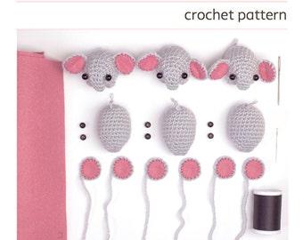crochet elephant pattern - easy amigurumi pattern