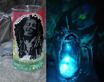 Bob Marley beer mug