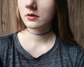 Pink holographic choker | Metallic necklace | Tattoo choker | Multi strand choker | Dainty choker |  Delicate choker |