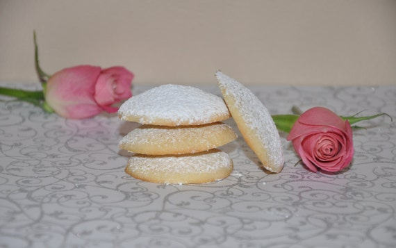 Valentine  Edible Gift Cookie Rose Water Almond  Tea Cakes