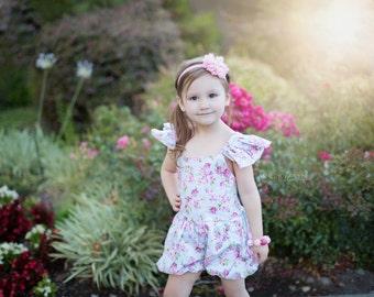 Pink Flower w/ Rhinestone Center Headband - Photo Baby Toddler Child Girls Headband Hair