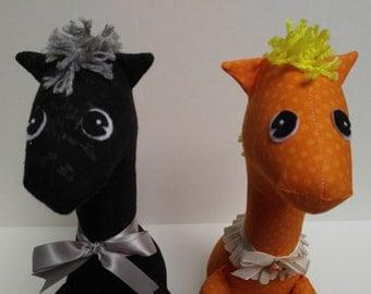 ORANGE & YELLOW Polka Dot Giraffe Stuffed Animal