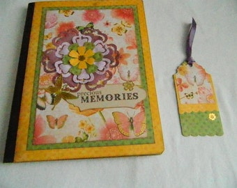Altered Composition Book with pockets and bookmark Journal or Memory book