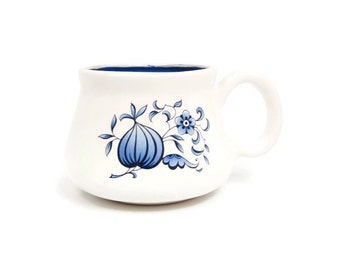 Vintage Blue Onion Danube Shaving Mug Ceramic Cup Blue Onion Floral Design Small Teacup