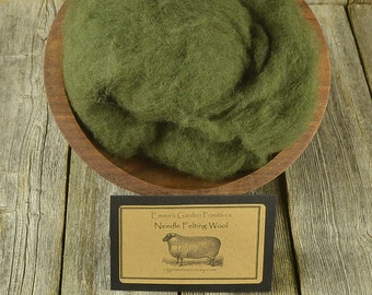 Needle Felting  Wool - Woodland Moss - Wet Felting Wool