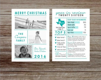 2017 Year in Review Christmas Card with Photos, family Christmas card, holiday card, christmas photo card, year in review card