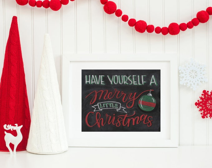 Merry Little Christmas - A Print of an Original Chalkboard