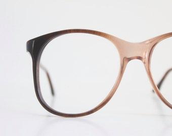 Vintage 80's Italian Smokey Brown Fade Eyeglass Frames