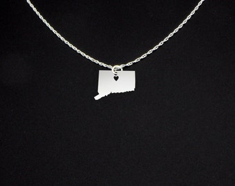 Connecticut Necklace - Connecticut Jewelry - Connecticut Gift