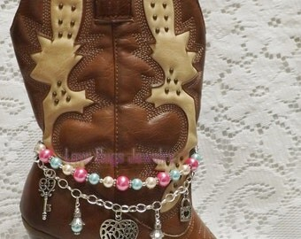 Tropical Dream Boot Jewelry, Boot Bracelet, Boot Bling, Boot Jewelry, Cowgirl Boot Bling, Boot Band Bracelet