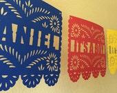 Custom Papel Picado Banner - Baby Shower - Bridal Shower - Fiesta
