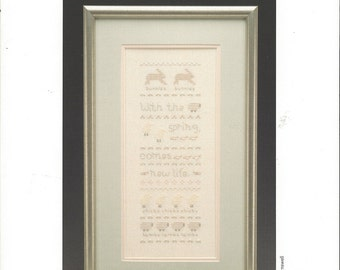 "Clearance-""Spring Samplers"" Counted Cross Stitch by Cotton Crossing"
