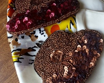 Two gorgeous beaded with sequence coin purse made In India15.00 EACH FREE shipping USA