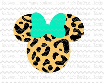 Leopard Minnie Mouse, Leopard Mickey Mouse, SVG, DXF, EPS, Png, Disney Vacation Shirt, Disney Family Vacation Shirt, Disney, Mickey Mouse