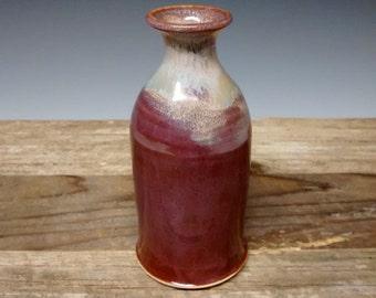 Arctic Aura - Ceramic Vase - Handmade Pottery - Merlot Stoneware