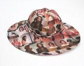 Vintage Quilt / Mugshot, Reversible  POOL/ Lounge HAT