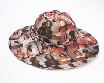 Vintage Quilt / Mugshot, Reversible  POOL/ Lounge HAT
