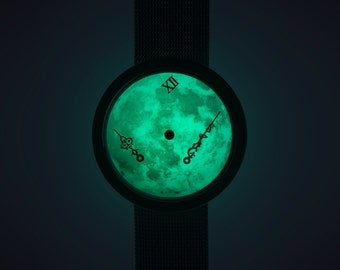 Zero-Gravity watch : ver.Moonlight III + leather strap (time of the universe)