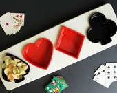 Vintage Fesco Playing Card Suit Plastic Snack Tray Tidbit Serving design product 6118