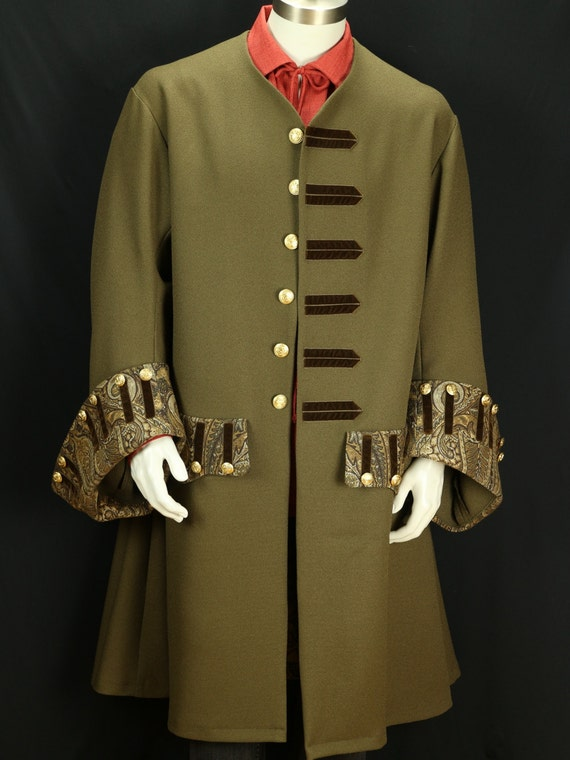 Captain pirate coat Buccaneer frock coat  French court costume size XL Colonial clothing