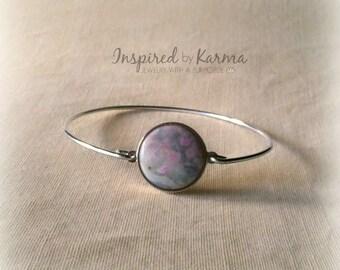 Purple Jasper Bangle Bracelet,stacking bangles,Jasper Bracelet,Gemstone Bracelet,Silver Bangle,Gemstone Bangle,Stacking Bracelets