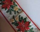 "Vintage Holiday Jacquard Woven Edge Ribbon Trim 1 3/4"" Wide  Embellishment/Christmas Holiday/Garments/Millinery"