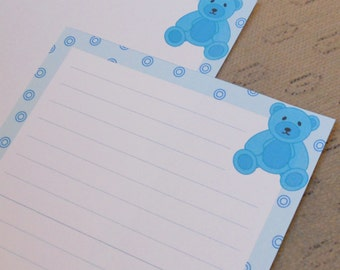 Letter paper - cute Teddy bear - animal writing paper - stationery paper