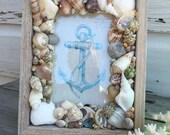 Seashell Frame/4X6 Shell Picture Frame/Wedding Day Frame