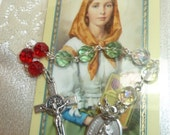 Free US Shipping~St. Dymphna pocket chaplet~Rosary Chaplet