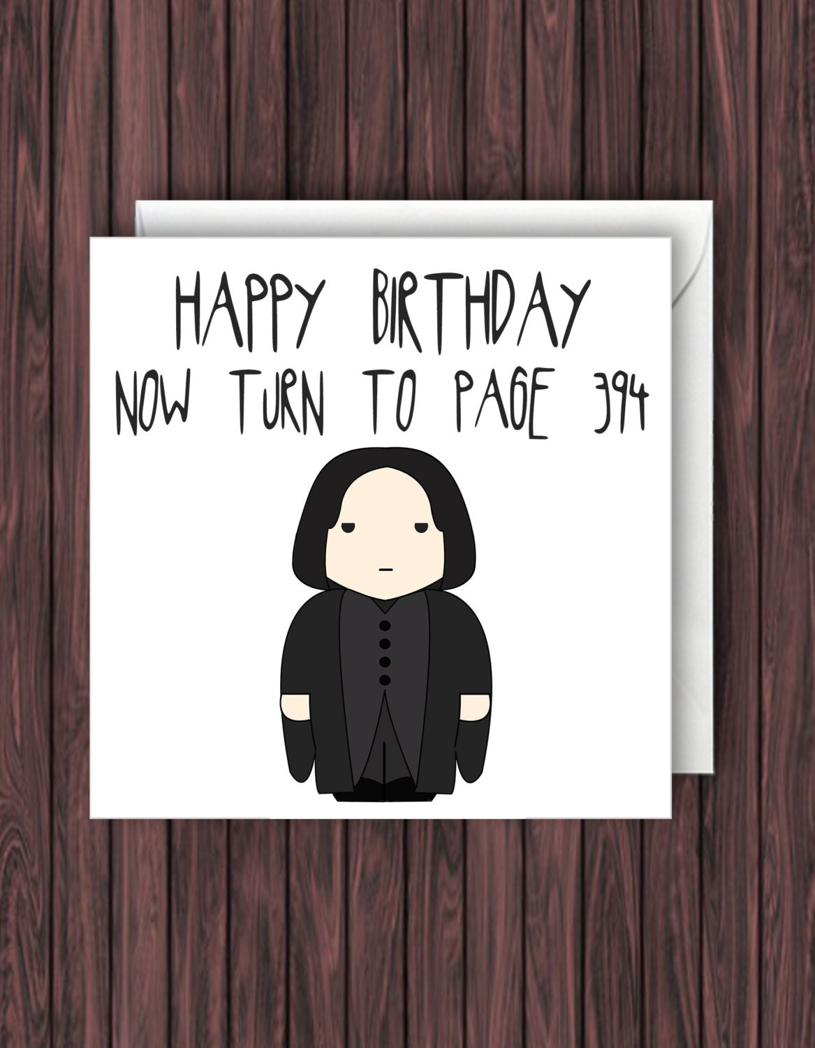 Snape 394 Harry Potter Birthday Card Funny Greetings Card