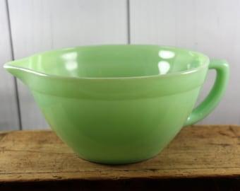 Jadite Mixing Bowl, Fire King, Vintage Kitchen, Mid Century, Kitsch Kitchen, Diner Ware, Mixing Bowl, Bowl, Retro, Vintage Kitchen