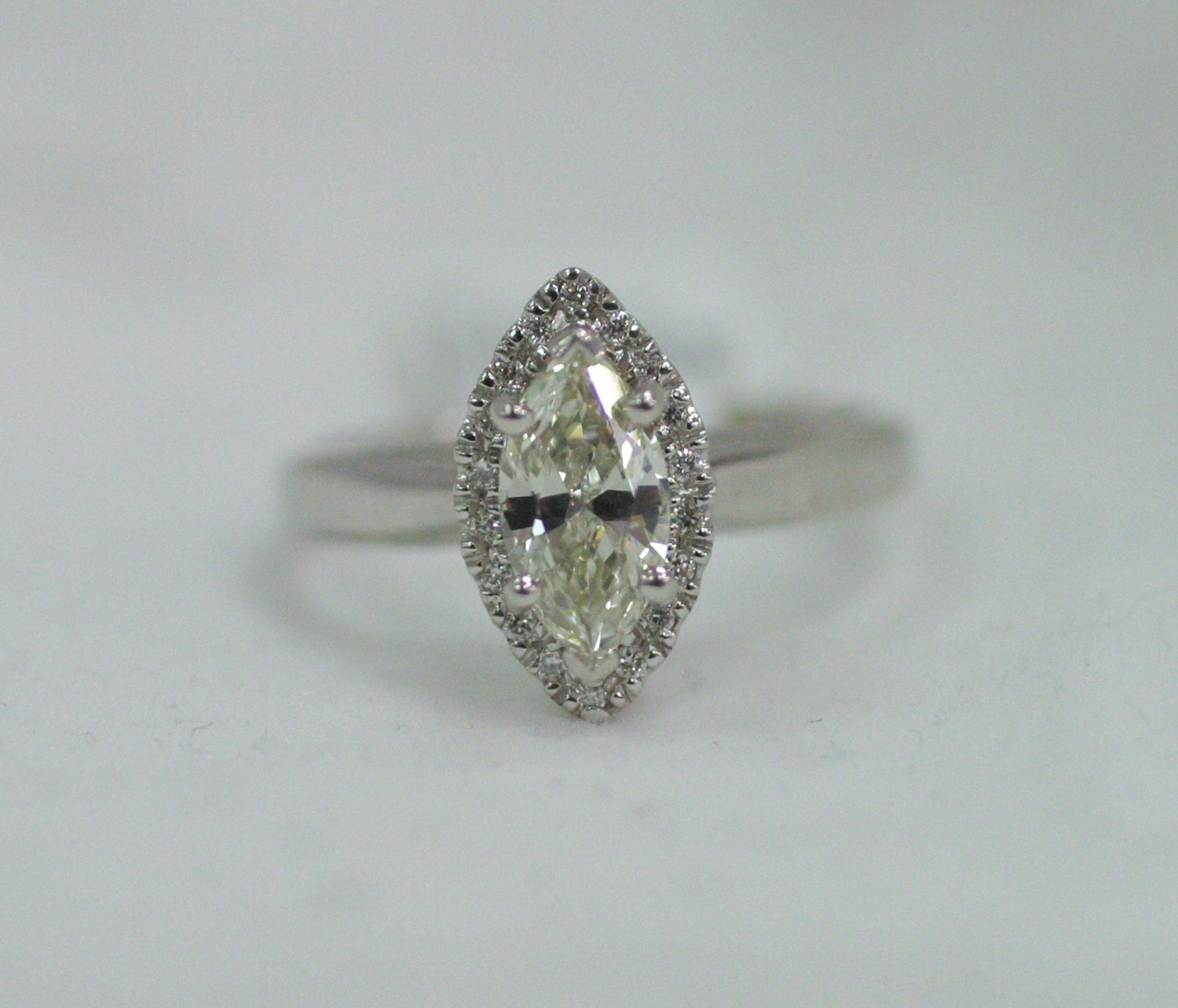 marquise halo engagement ring by marrymejewelry on