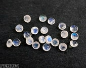 3mm rainbow moonstone faceted gemstones. white blue flash gem faceted moonstone loose gems