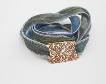 Copper Silk Wrap Bracelet, Personalized