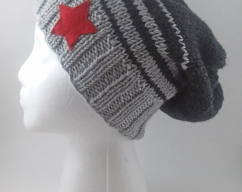 Winter Soldier Knit Slouchy Beanie - MADE TO ORDER