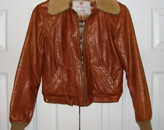 Vintage Crae Carlyle San Francisco Size 9 Leather Jacket