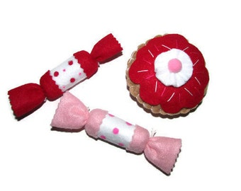 Cat Toys - Catnip Kitty Candies and Jelly Donut  - Set Of 3