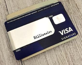 Money Clip, Credit cards holder, Groomsmen gift, wedding gift, Custom Money Clip, father gifts, money, clip, anniversary gifts, billionaire